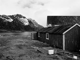 北欧の漁村の写真素材 [FYI03376606]