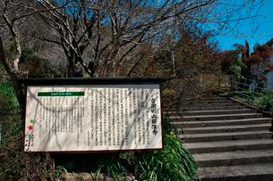 羅漢寺参道の看板の写真素材 [FYI03376702]