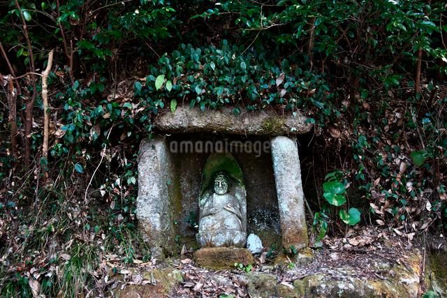 古羅漢の景自然歩道の石仏の写真素材 [FYI03376723]