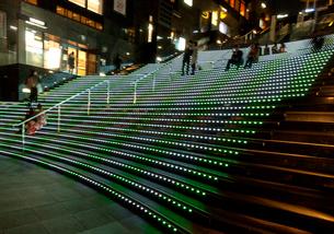 京都駅ビルの大階段の写真素材 [FYI03376752]