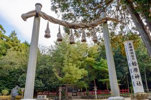 桧原神社と鳥居の写真素材 [FYI03377076]