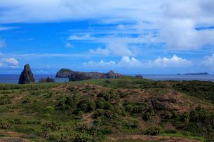 聟島 丘陵地 針の岩の写真素材 [FYI03377170]