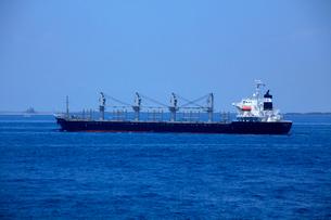 貨物船 浦賀水道 東京湾の写真素材 [FYI03377181]