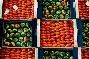ランジス市場のイチゴとトマトの写真素材 [FYI03377532]