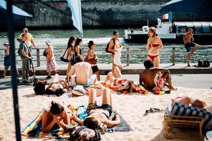 パリ・プラージュの写真素材 [FYI03377554]