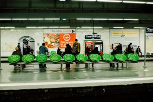 メトロのパリ東駅の写真素材 [FYI03377557]