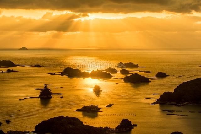 石岳展望台より望む九十九島2の写真素材 [FYI03377658]