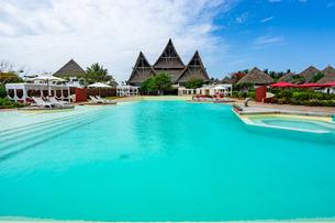 ザンジバルのリゾートホテル、タンザニアの写真素材 [FYI03378252]