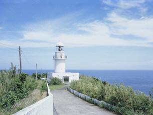 八丈島灯台の写真素材 [FYI03378359]