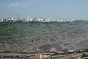 西露天掘り炭鉱の写真素材 [FYI03379312]