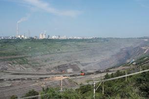 西露天掘り炭鉱の写真素材 [FYI03379392]