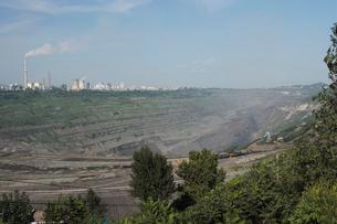 西露天掘り炭鉱の写真素材 [FYI03379398]