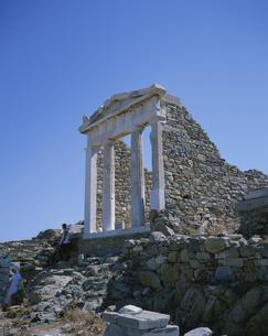 デロス島遺跡 シリア人の神殿 ギリシヤの写真素材 [FYI03379589]