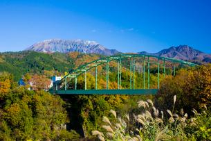 秋の大山と南大山大橋の写真素材 [FYI03379634]