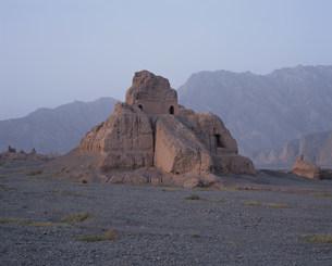 スバシ故城の西寺仏塔の写真素材 [FYI03380068]