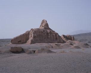 スバシ故城の西寺仏塔の写真素材 [FYI03380073]