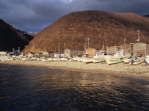 福浦の漁港の写真素材 [FYI03381035]