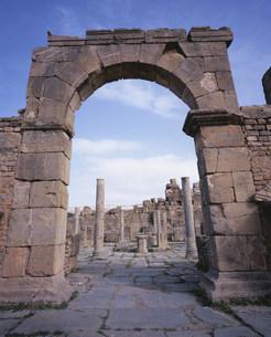 ジェミラ考古遺跡(コシニウス市場)の写真素材 [FYI03381635]