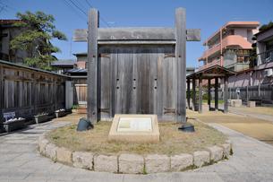 東海道袋井宿 本陣跡の写真素材 [FYI03382373]