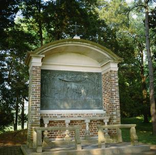 最初の教会の記念碑の写真素材 [FYI03383295]