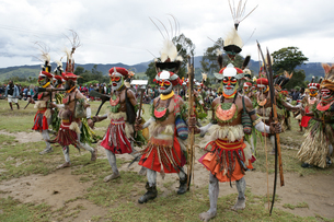 マウント・ハーゲンのシンシン クナナ族の写真素材 [FYI03383420]