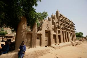 ドゴン族のモスクの写真素材 [FYI03383424]