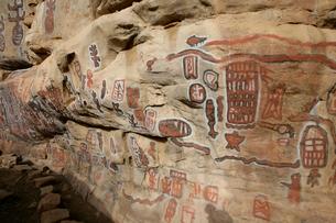 ドゴン族の壁画の写真素材 [FYI03383448]