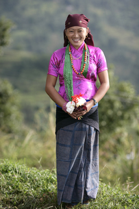 グルン族の正装の写真素材 [FYI03383449]