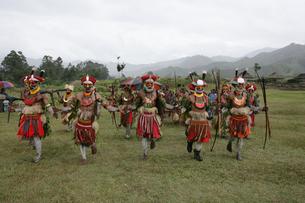 マウント・ハーゲンのシンシン クナナ族の写真素材 [FYI03383472]