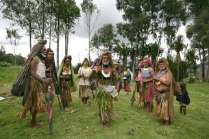 マウント・ハーゲンのシンシン クナナ族の写真素材 [FYI03383476]