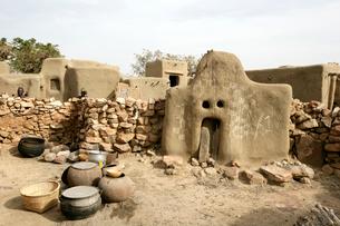 ドゴン族の民家の写真素材 [FYI03383478]