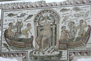 バルドー博物館のモザイク壁画の写真素材 [FYI03383482]