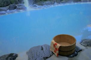 露天風呂鬼面の湯の写真素材 [FYI03383625]