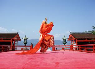厳島神社 舞楽 蘭陵王 左方舞の写真素材 [FYI03383924]