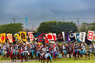 相馬野馬追祭りにての神旗争奪戦風景の写真素材 [FYI03384862]