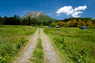 農道と伯耆大山の写真素材 [FYI03385126]