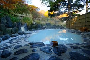 露天風呂鬼面の湯の写真素材 [FYI03385375]