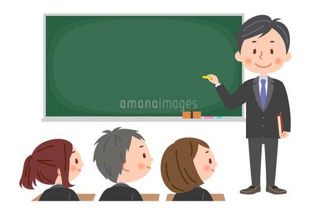 授業 男性教師と生徒のイラスト素材 [FYI03385589]