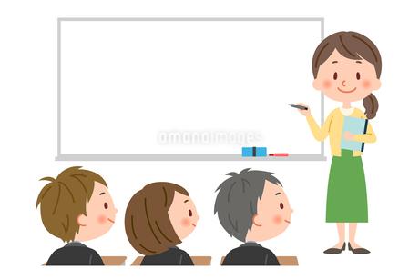 授業 女性教師のイラスト素材 [FYI03385590]