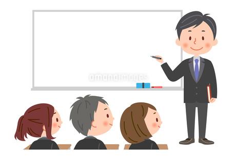 授業 男性教師と生徒のイラスト素材 [FYI03385591]