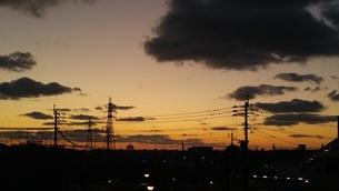 夕陽の写真素材 [FYI03386352]
