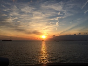 夕日2の写真素材 [FYI03386398]