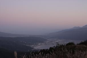 高ボッチ高原の朝焼けの写真素材 [FYI03386773]