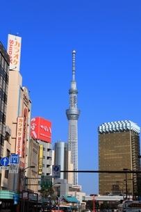 浅草から見た東京スカイツリーの写真素材 [FYI03386790]
