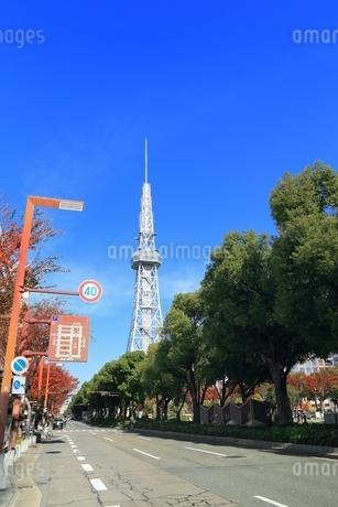 100メートル道路とテレビ塔の写真素材 [FYI03386817]