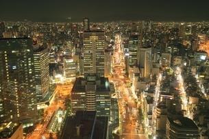 大阪梅田の夜景の写真素材 [FYI03386823]