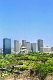 新緑の大阪城の写真素材 [FYI03386836]