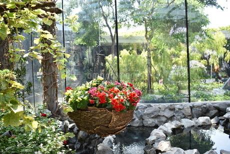 ガーデンズバイザベイの室内で流れる水の写真素材 [FYI03387022]