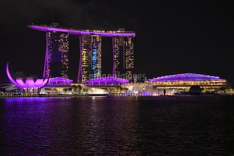 シンガポールの夜景の写真素材 [FYI03387148]