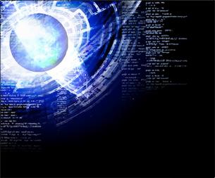 電脳空間をイメージしたイラストのイラスト素材 [FYI03387457]
